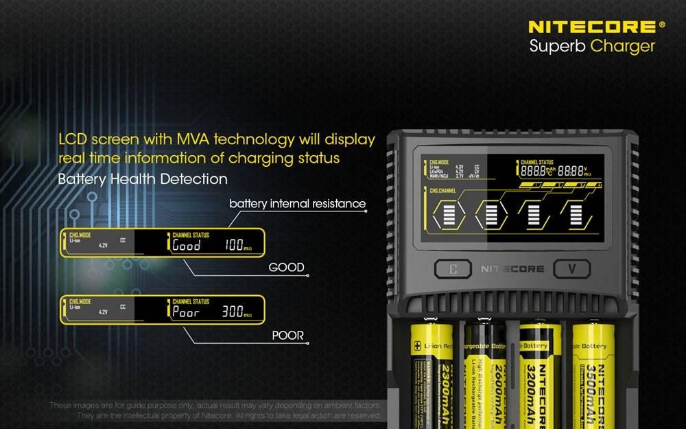Nitecore Sc4 Superb Charger 4 Slot Universal Battery