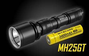 Nitecore MH25GT Rechargeable LED Flashlight - Use 2x CR123A or 1x 18650-1000 Lumen
