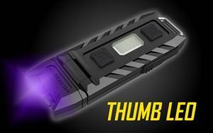 Nitecore Thumb LEO USB Rechargeable White/UV LED Keychain Light