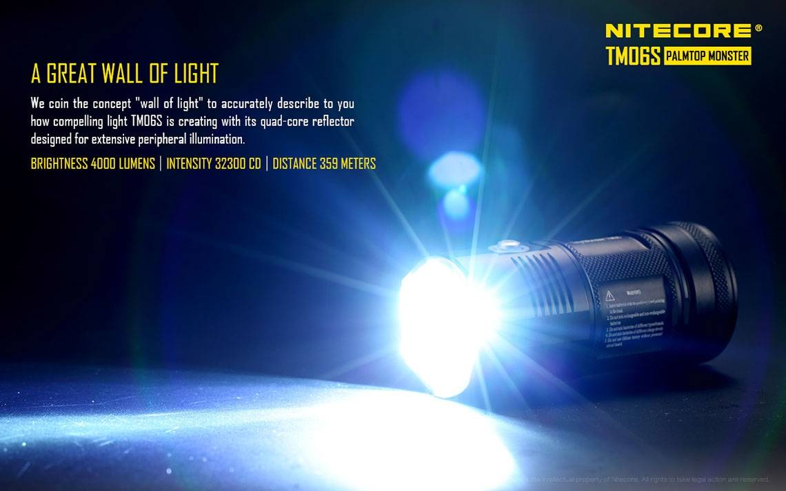 nitecore tm06s 4000 lumen super compact led flashlight. Black Bedroom Furniture Sets. Home Design Ideas