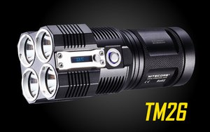 NiteCore TM26 Tiny Monster QuadRay Rechargable LED Flashlight-4000 Lumen