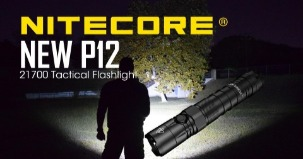 NITECORE NEW P12 Tactical Flashlight Powered by a 21700 Battery