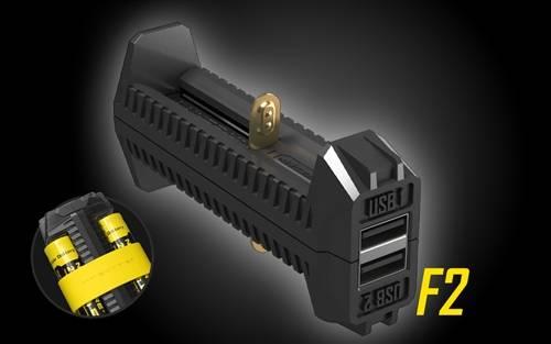Nitecore F2 Flex Dual-Port Power Bank Battery Charger