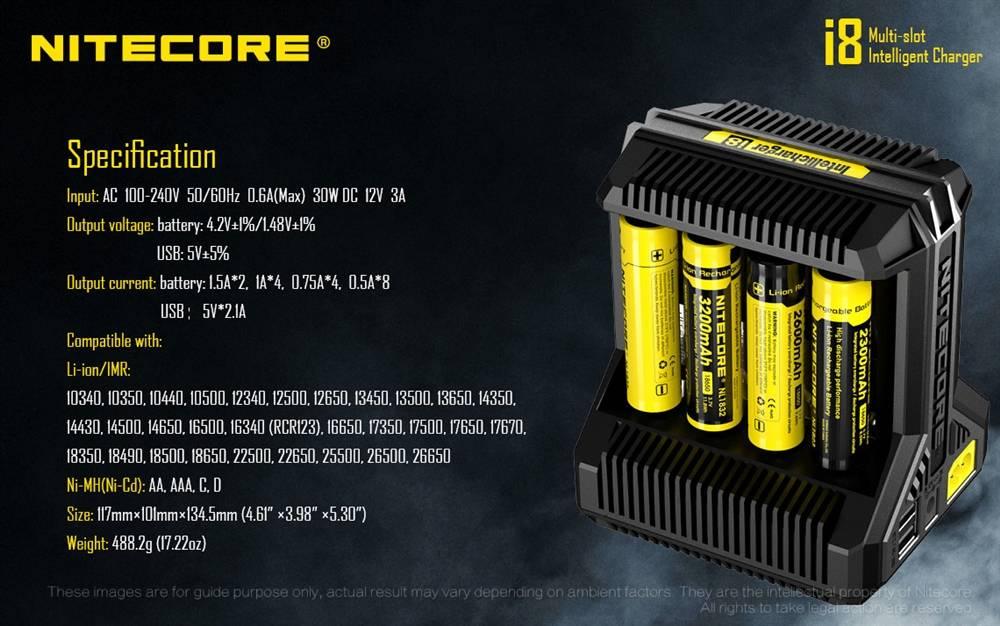 NITECORE i8 8-slot Intelligent Universal Battery Charger