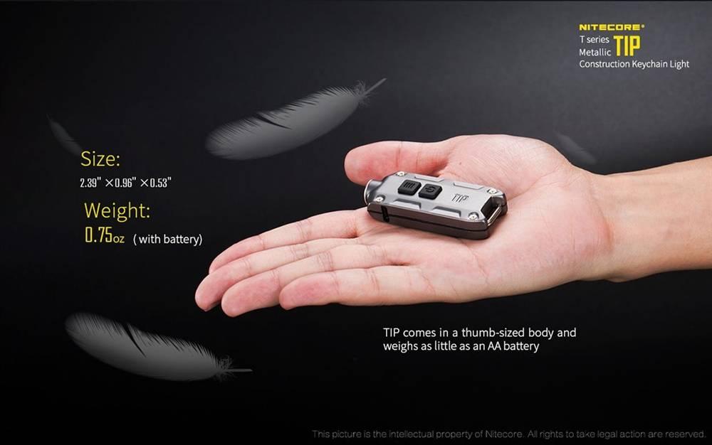 Nitecore Tip 360 Lumen Usb Rechargeable Led Keychain