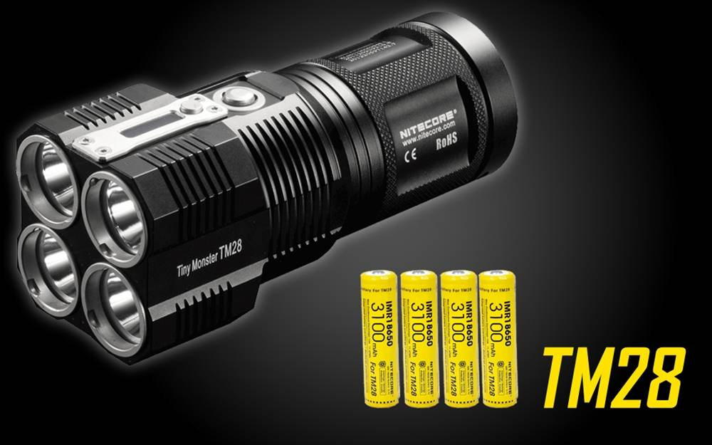 nitecore tm28 lumen led flashlight